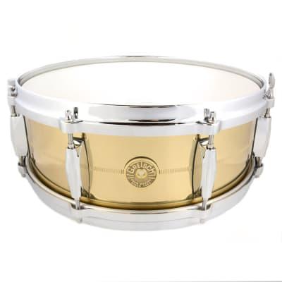 "Gretsch G4160SB USA Solid Spun Brass 5x14"" 8-Lug Snare Drum"