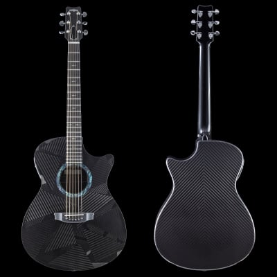 RainSong Black Ice Series BI-OM1000N2 OM Slim Body Cutaway Acoustic Electric (526) for sale