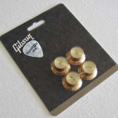 Gibson Top Hat Knobs Gold with Gold Inserts PRMK-030