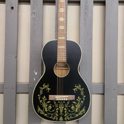 Recording King Series 7 Limited Edition Golden Strings - Matte Black for sale
