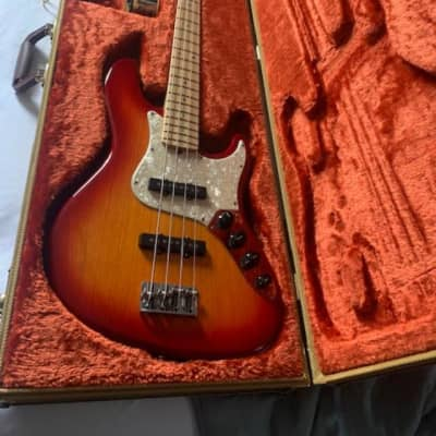 Fender American Jazz Bass Deluxe 2006 Cherry Burst for sale