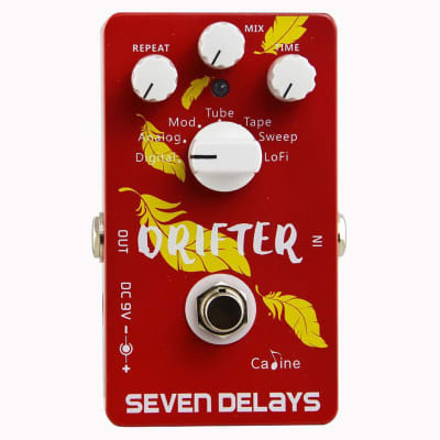 CALINE CP-37 DRIFTER Seven Delays Multi-Delay Guitar Effects Pedal