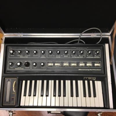 Moog MicroMoog Analog Mono Synthesizer, with Case and Manual
