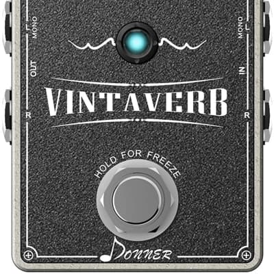 Vintaverb Reverb Guitar Pedal, Multi-type Reverb Pedal 7 World-Class Reverb