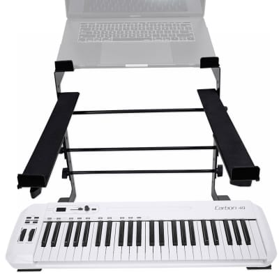 Samson Carbon 49 Key USB MIDI DJ Keyboard Controller+Dual Shelf Studio Stand