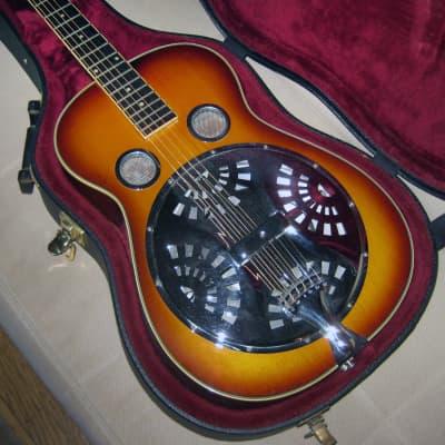 Regal RD-40 Vintage Sunburst Roundneck Resonator Guitar for sale