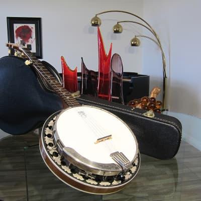 Vintage 1985 Deering Intermediate model 5 String Banjo Near Mint All Original w Hard Shell Case