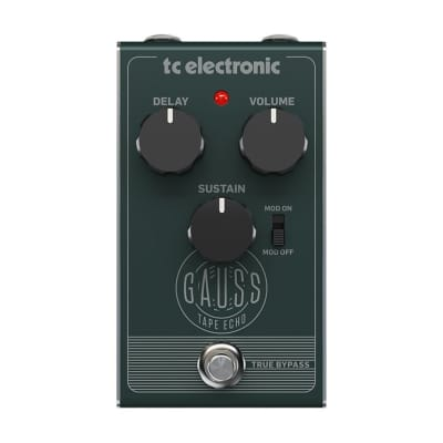TC Electronic Gauss Super-Saturated Tape Echo with Mod Switch