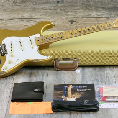 MINT! Fender Custom Shop '56 Stratocaster 1956 Time Machine Relic 2017 Aged HLE Gold for sale