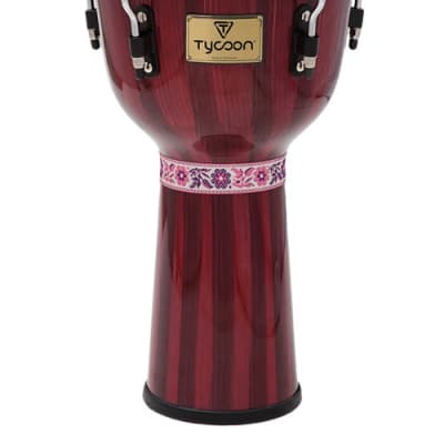 """Tycoon Percussion Artist Series Hand-Painted Red Finish Djembe 12"""""""