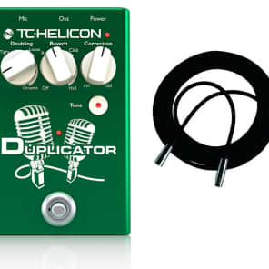 TC-Helicon Duplicator Doubling/Reverb/Pitch Correction Pedal w/ Cable!