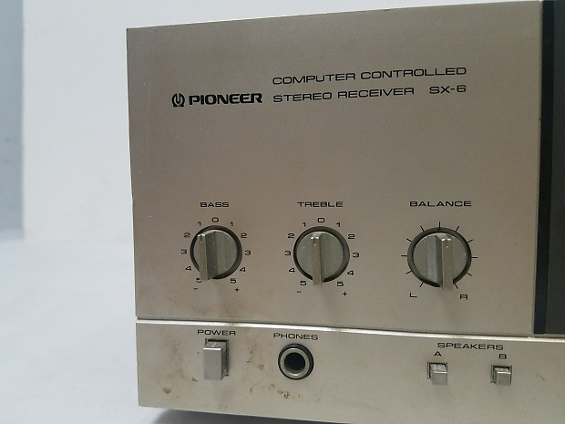 Vintage Pioneer SX-6 Computer Controlled Stereo Receiver