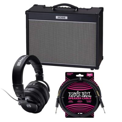 Boss NEXTONE Artist 80W Amplifier, Presonus HD9, Ernie Ball Guitar Cable PO607 Bundle