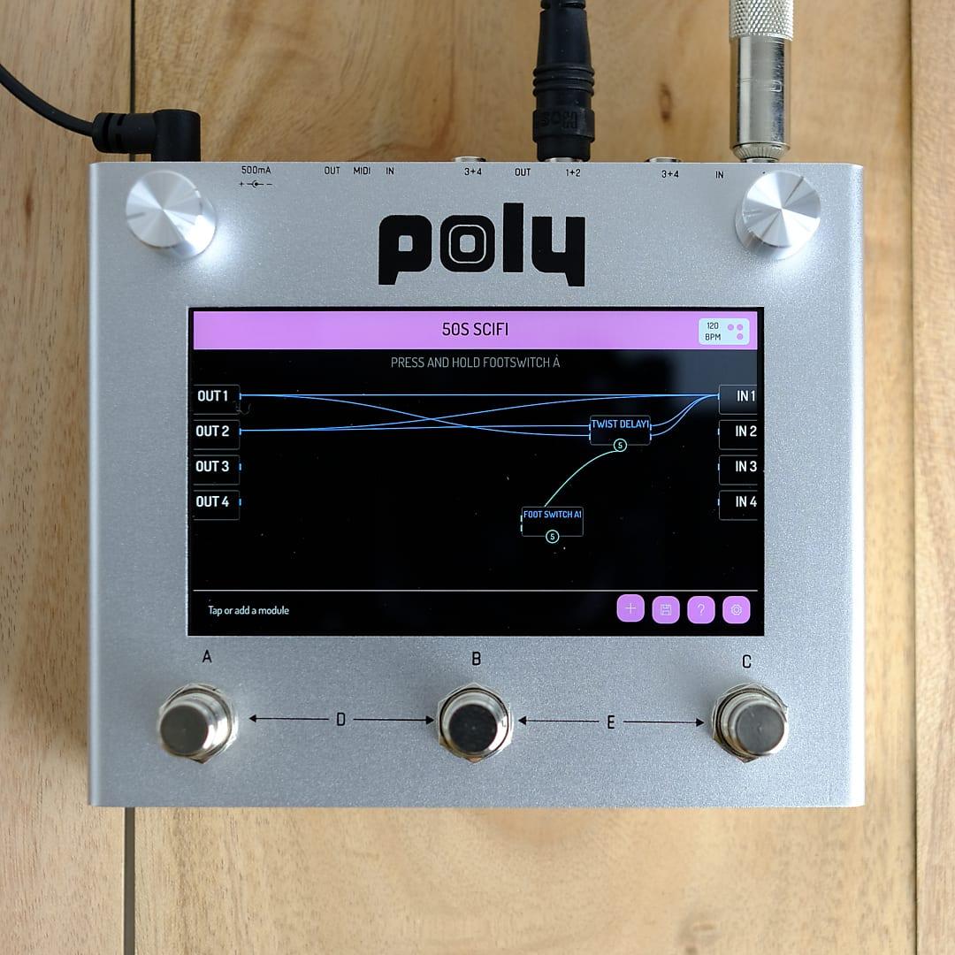 Poly Digit - Quad Delay, Reverb, Cab Sim. Visual modular.