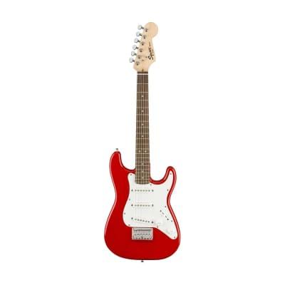 Squier Mini Stratocaster Electric Guitar, Laurel FB, Torino Red