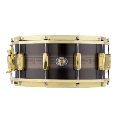 "Ludwig LBR0714CX 110th Anniversary Heirloom Black Brass 7x14"" Snare Drum 2019"