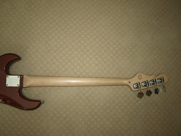 G Amp L Sb 2 Bass Guitar In Metallic Bordeaux Red Reverb