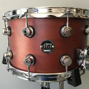 """DW Performance Series 8x14"""" Maple Snare Drum Tobacco Satin Oil"""