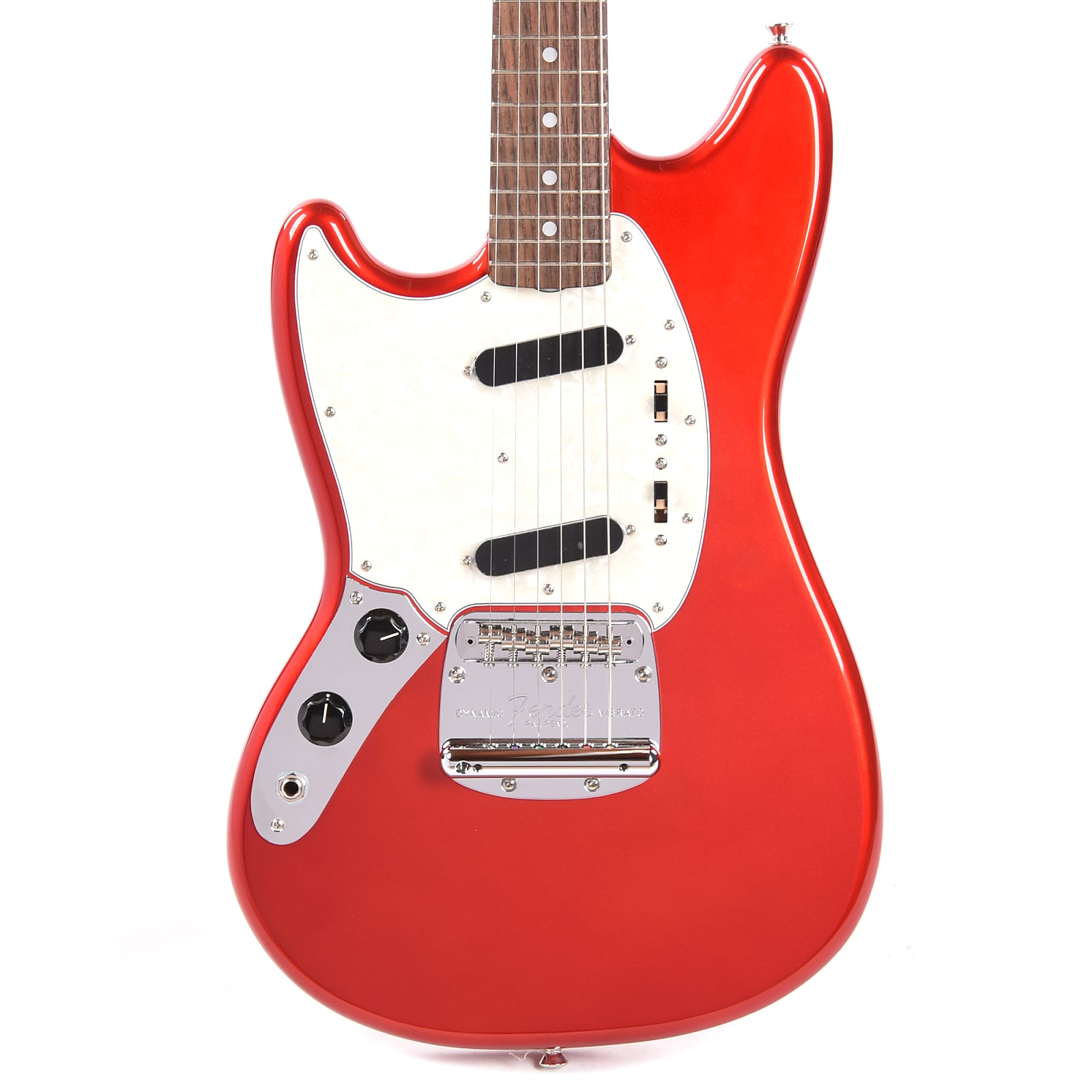 Fender MIJ Traditional 60s Mustang Candy Apple Red LEFTY w/Matching Headcap (CME Exclusive)