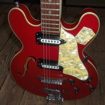 Kimberly Semi-Hollow Electric Circa 1960's Dakota Red for sale
