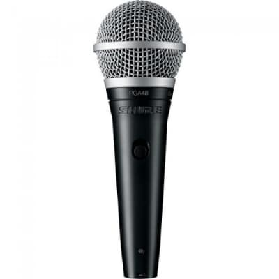Shure Cardioid Dynamic Vocal Microphone with XLR-QTR Cable (PGA48-QTR)