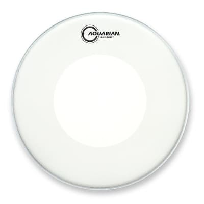 "Aquarian VEL14 14"" White Texture Coated Hi-Velocity Snare Drum Head"