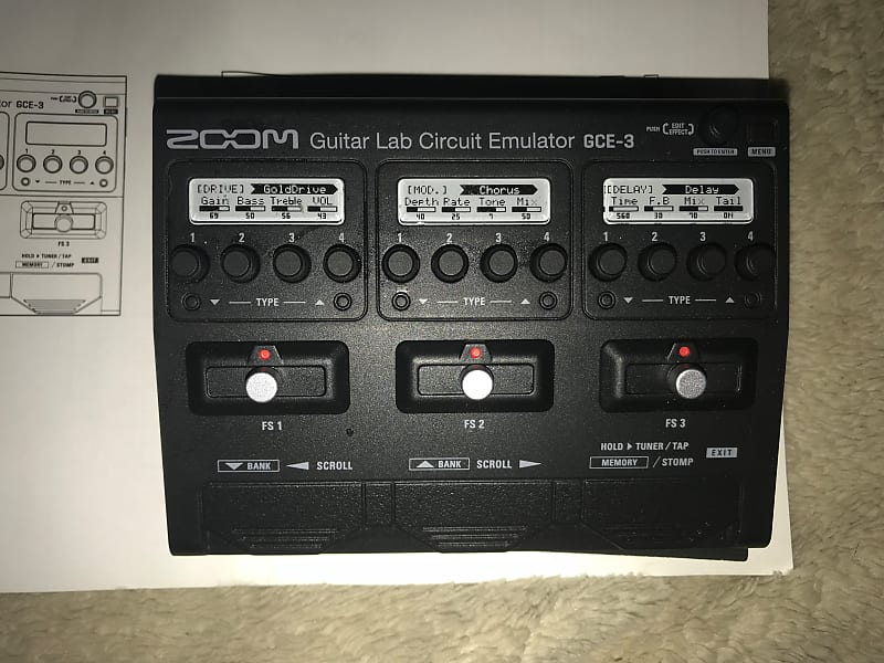 zoom gce 3 guitar lab circuit emulator usb audio interface reverb. Black Bedroom Furniture Sets. Home Design Ideas