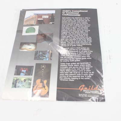 Guild's Commitment to Continued Craftsmanship Guitar Paper Catalog