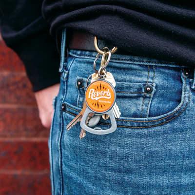 Reverb Orange Vintage Keychain