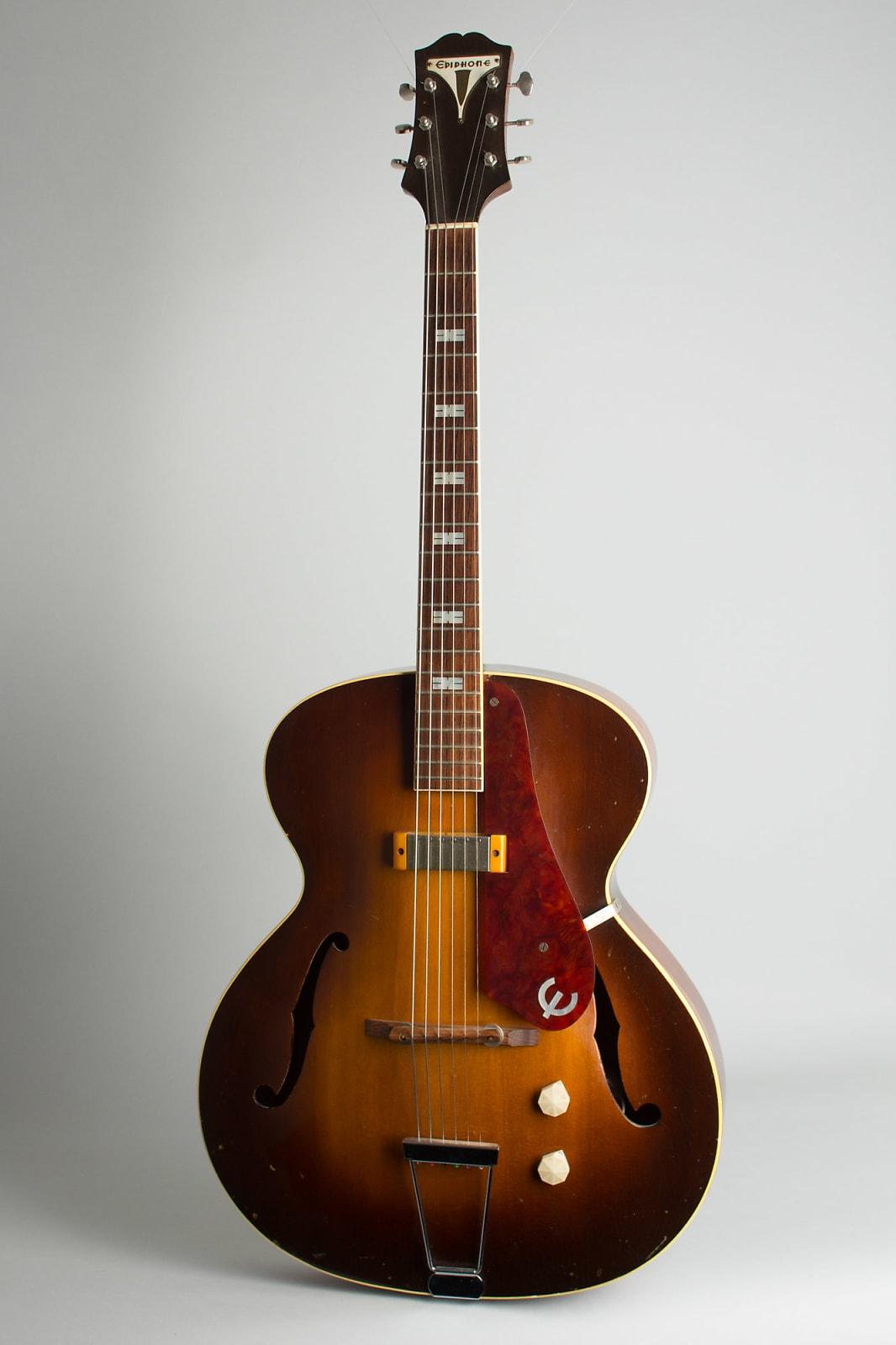 Epiphone  Zephyr Arch Top Hollow Body Electric Guitar (1949), ser. #25768, black tolex hard shell case.