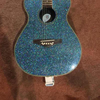 Limited Edition Blue Sparkle Daisy Rock for sale