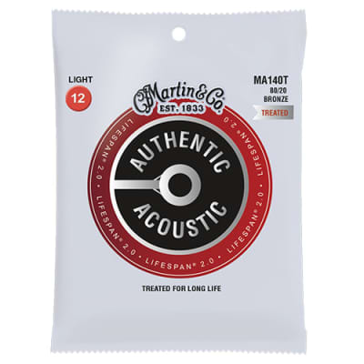 Lifespan 2.0 Acoustic guitar strings MA140T 80/20 Bronze Light, 12