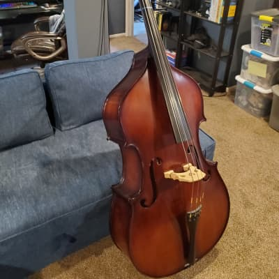 Carlo Robelli 3/4 Acoustic Bass w/case and bow for sale