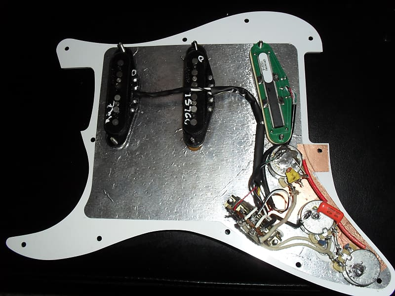 Genuine Fender Strat Loaded Pickguard Dimarzio Super