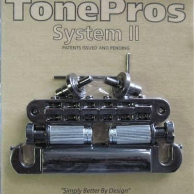 TonePros LPM04-B Standard Tuneomatic/Tailpiece Set Black