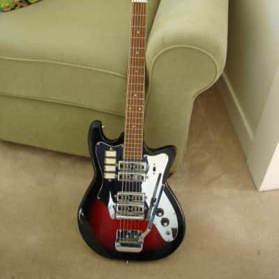 Vintage 60's Japanese GHI-Kawai-Guyatone-St. George maybe? Four pickup Sunburst SB Electric Guitar. for sale