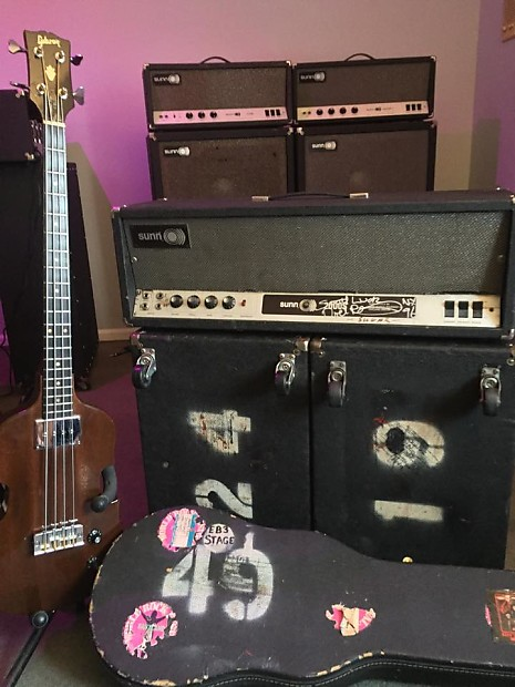 jimi hendrix 39 s sunn amps 2000s head w 2 2x15 cabs with. Black Bedroom Furniture Sets. Home Design Ideas