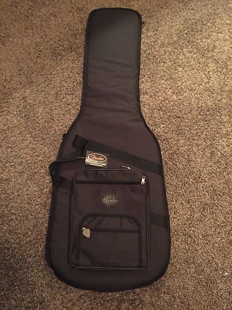 fender soft shell black canvas guitar case gig bag reverb. Black Bedroom Furniture Sets. Home Design Ideas