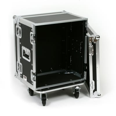 OSP Deluxe ATA 12 Space 12U Effects Road Tour Rack Flight Case with Casters image