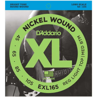 D'Addario EXL165 Nickel Wound Bass Strings - 45-105