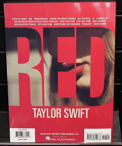 Taylor Swift: Red Piano/Vocal/Guitar Artist Songbook | Reverb