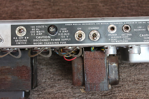 Vintage 1970s Fender Twin Reverb 135w Ultralinear All Tube