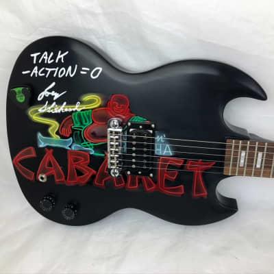 Odyssey Joe Keithley D.O.A. JK200 Autographed Smilin' Buddha Graphic Guitar 016 for sale