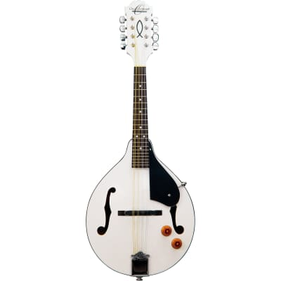 Oscar Schmidt OM10EWH A-Style Acoustic Electric Mandolin, White for sale