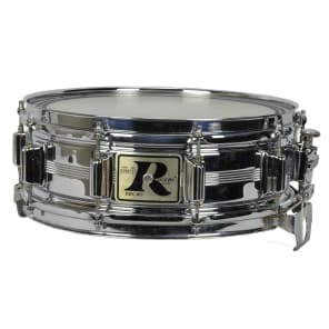 """Rogers """"Big R"""" Dyna-Sonic 5x14"""" Chrome Over Brass Snare Drum 1975-1984"""