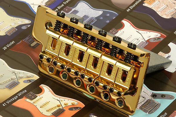 NEW Bridge STRATOCASTER Trémolo complet gold pour guitare Fender mexicaine