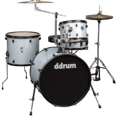 ddrum D2R 4pc Silver Sparkle Complete Drum Kit D2R SILVER Sparkle