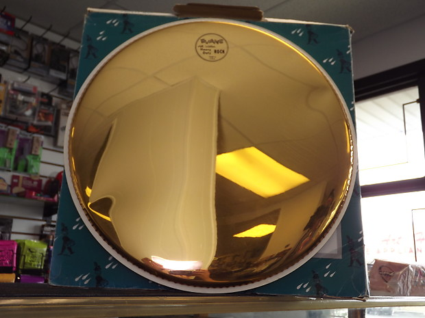 evans tt16hr hydraulic drum head with oil gold mirror reverb. Black Bedroom Furniture Sets. Home Design Ideas