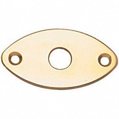 Allparts Jackplate, Football, Gold for sale