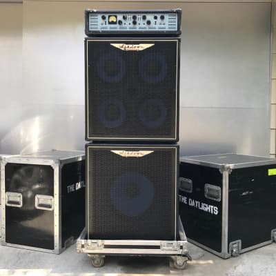Ashdown 900 Evo III, 1x15 Cab, 4x10 Cab, Rolling Cases for Cabs.